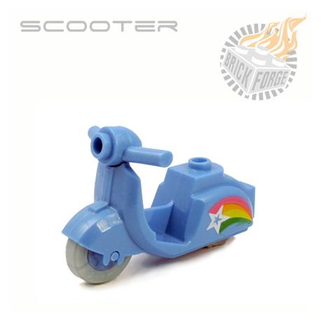 Scooter - Medium Blue (Rainbow Print)