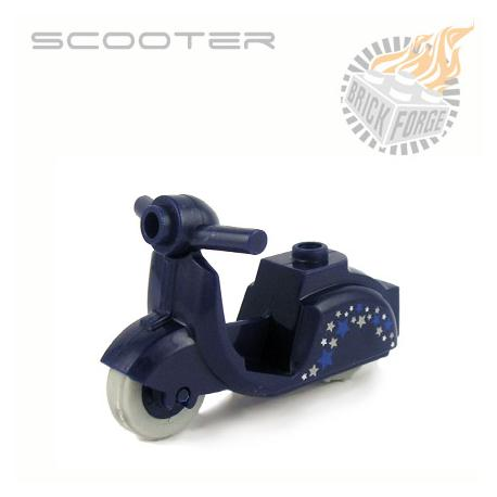 Scooter - Dark Blue (Stars Print)