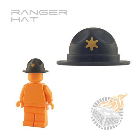 Ranger Hat - Dark Blueish Gray (gold Star print)