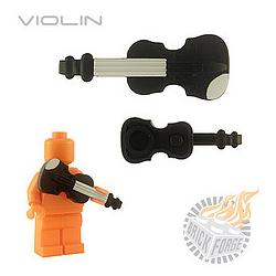 Violin - Black (gray chin/neck print)