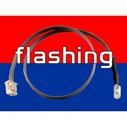 6 inch LED Cable - Flashing Red/Blue