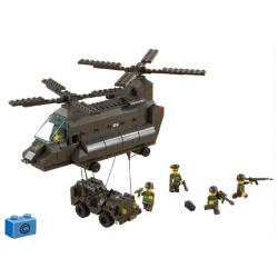 HELICOPTERE CHINHOOK + JEEP