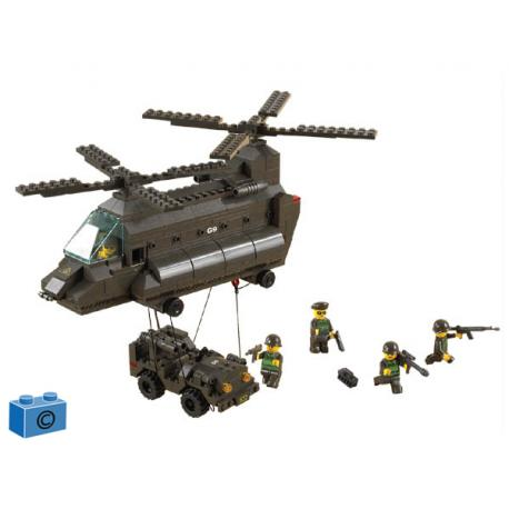 EITHER HELICOPTER CHINHOOK + JEEP