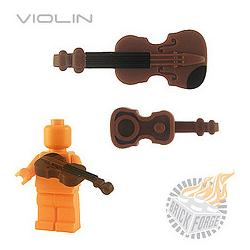 Violin - Reddish Brown (black chin/neck print)