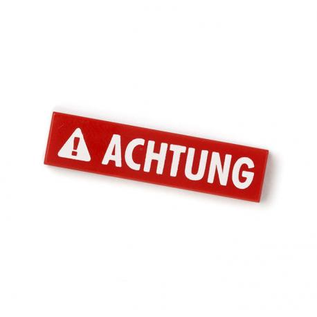 Achtung Tile (Red)