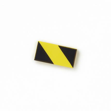 Hazard Tile 1x2 (Black & Yellow)