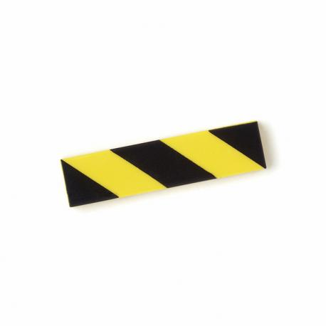 Hazard Tile 1x4 (Black & Yellow)