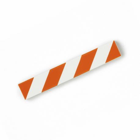 Hazard Tile 1x6 (Orange & White)