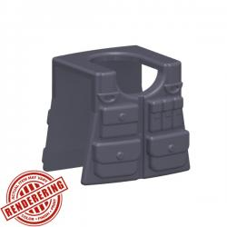 Tactical Vest - Dark Blueish Gray
