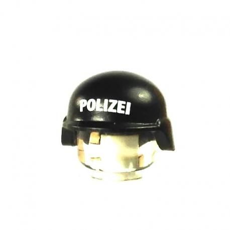 Modern Combat Helmet - Noir/Blanc POLIZEI