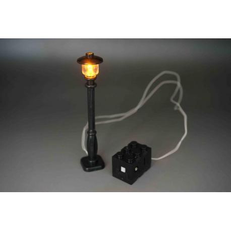 Black Lamp Post (Wired) - Warm White