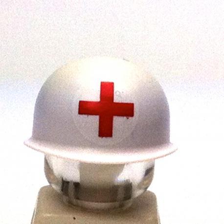 Casque US M1 - Croix Rouge