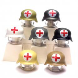 Casque allemand Stahlhelm - Croix Rouge