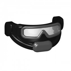 Tactical Goggles - White + Dark Gray Print