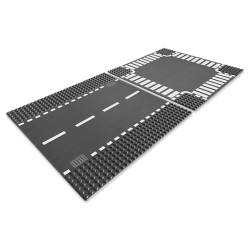Straight & Crossroad Plates - Lego City 7280