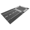 Rechte wegenplaten en kruising - Lego City 7280