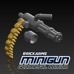 Minigun Gunmetal with Brass Ammo