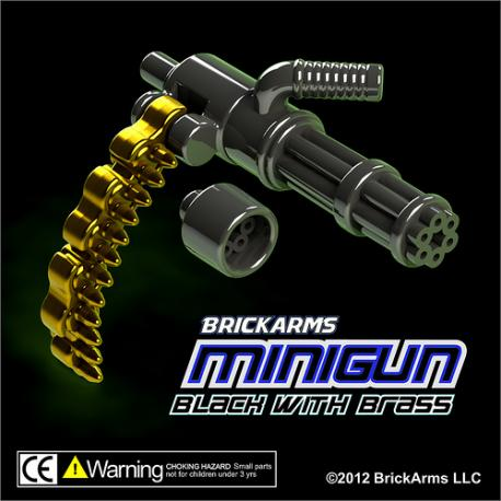Minigun Black with Brass Ammo