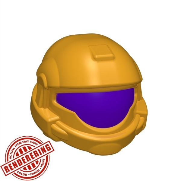 Bright Light Orange (dark purple visor)