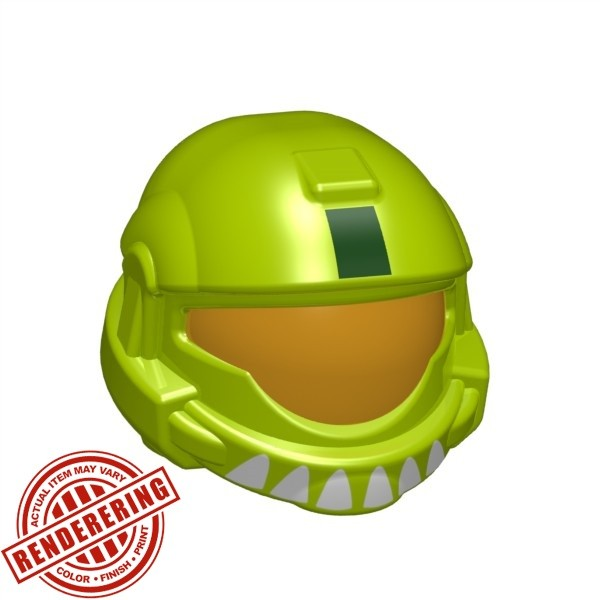 Lime Green (medium orange visor print)