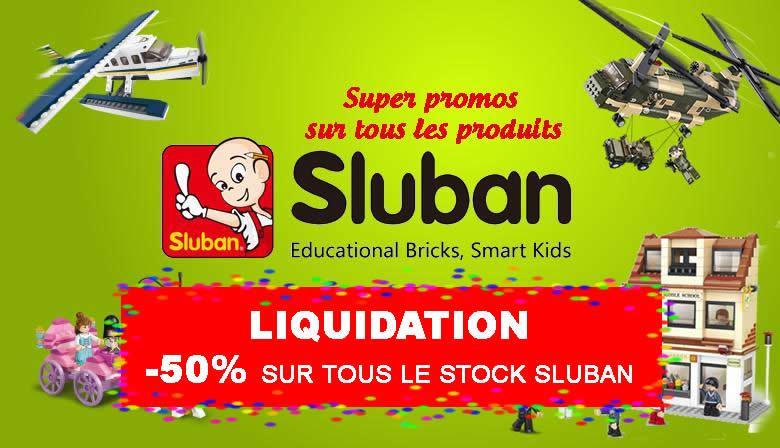 super promo sur tous les produits Sluban
