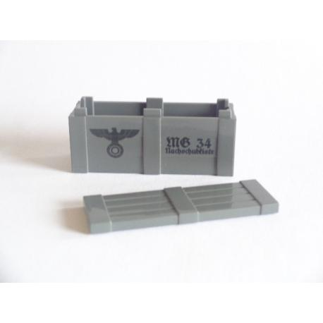 Crate with Lid - PRINTED MG34 (Dark Gray)