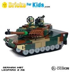 MBT Leopard 2 A6 Tank (100% LEGO BRICKS)