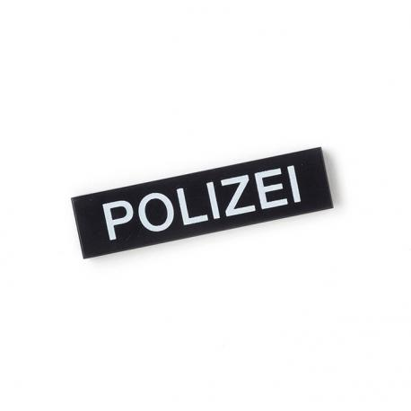 German Police Tile (Black)
