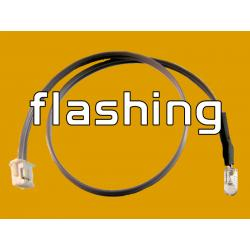 6 Inch LED Cable - Flashing Amber