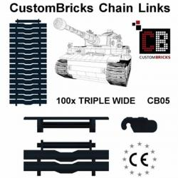 CustomBricks Chain Links - Triple Wide