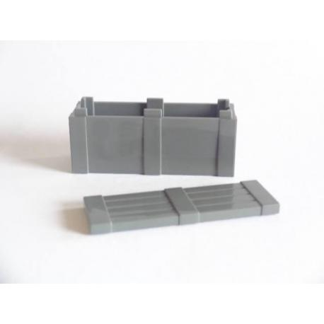 Crate with Lid - Dark Gray