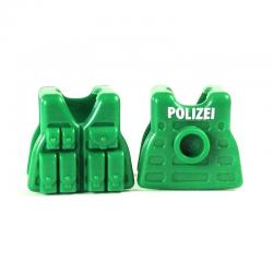 Lightweight Combat Vest - RIFLEMAN GREEN / White POLIZEI PRINT