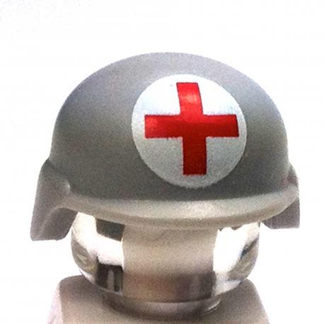 Modern Combat Helmet White - Red Cross