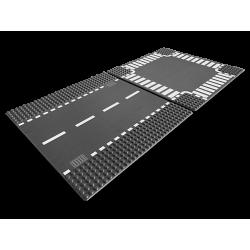 Plaques de route - Ligne droite et carrefour - Lego City 7280