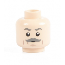 Grey Mustache Head Light Flesh