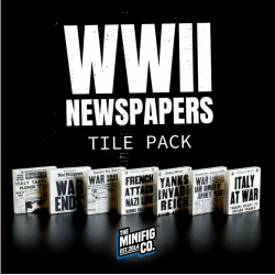 WWII Newspaper Tile Pack