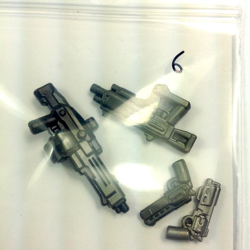 Pack 6 - Gunmetal+Black overmold (GM ammo)
